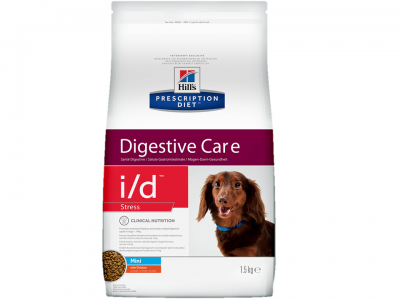 HILL'S PD DIGESTIVE CARE I/D STRESS MINI WITH CHICKEN Лечение ЖКТ при стрессе 1,5 кг 10469